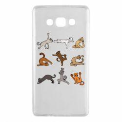 Чохол для Samsung A7 2015 Yoga cats - FatLine