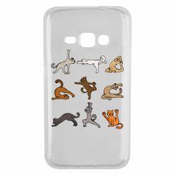 Чохол для Samsung J1 2016 Yoga cats - FatLine