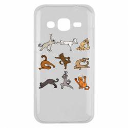 Чохол для Samsung J2 2015 Yoga cats - FatLine