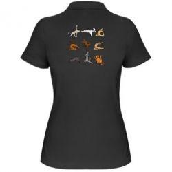 Жіноча футболка поло Yoga cats - FatLine