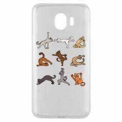 Чохол для Samsung J4 Yoga cats - FatLine