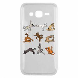 Чохол для Samsung J5 2015 Yoga cats - FatLine