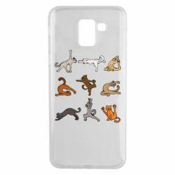 Чохол для Samsung J6 Yoga cats - FatLine