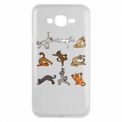 Чохол для Samsung J7 2015 Yoga cats - FatLine