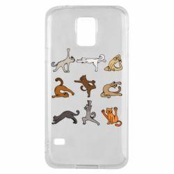 Чохол для Samsung S5 Yoga cats - FatLine