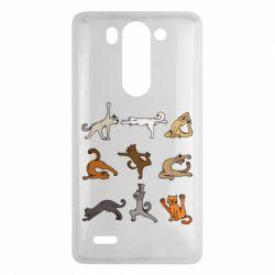 Чохол для LG G3 Mini/G3s Yoga cats - FatLine