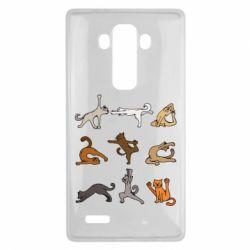 Чохол для LG G4 Yoga cats - FatLine