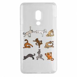 Чохол для Meizu 15 Plus Yoga cats - FatLine