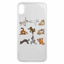 Чохол для iPhone Xs Max Yoga cats - FatLine