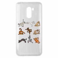 Чохол для Xiaomi Pocophone F1 Yoga cats - FatLine