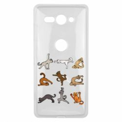 Чохол для Sony Xperia XZ2 Compact Yoga cats - FatLine