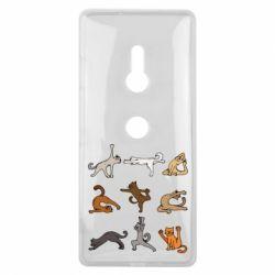 Чохол для Sony Xperia XZ3 Yoga cats - FatLine