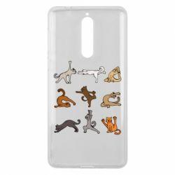Чохол для Nokia 8 Yoga cats - FatLine