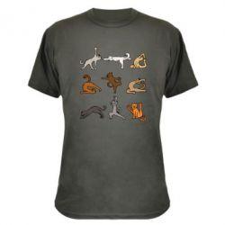 Камуфляжна футболка Yoga cats - FatLine