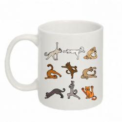 Кружка 320ml Yoga cats - FatLine