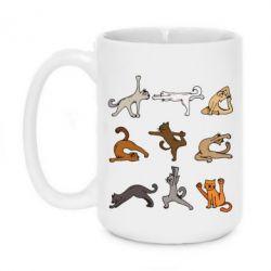 Кружка 420ml Yoga cats - FatLine