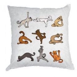 Подушка Yoga cats - FatLine