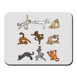 Килимок для миші Yoga cats - FatLine