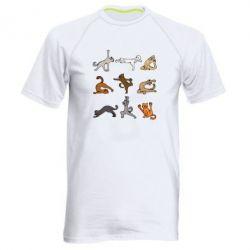 Чоловіча спортивна футболка Yoga cats - FatLine