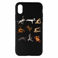 Чохол для iPhone X Yoga cats - FatLine