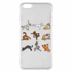 Чохол для iPhone 6 Plus/6S Plus Yoga cats - FatLine