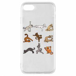 Чохол для iPhone 8 Yoga cats - FatLine
