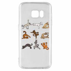 Чохол для Samsung S7 Yoga cats - FatLine