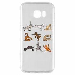 Чохол для Samsung S7 EDGE Yoga cats - FatLine