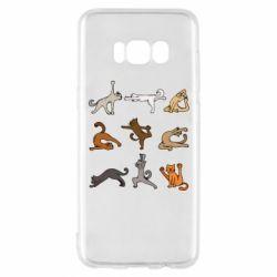Чохол для Samsung S8 Yoga cats - FatLine