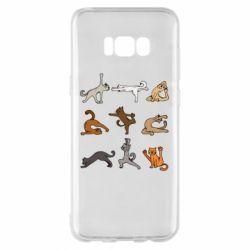 Чохол для Samsung S8+ Yoga cats - FatLine
