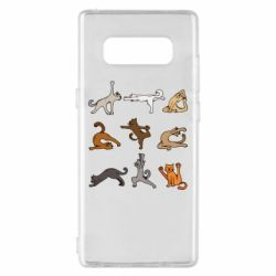 Чохол для Samsung Note 8 Yoga cats - FatLine