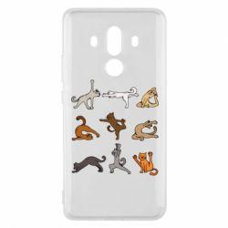 Чохол для Huawei Mate 10 Pro Yoga cats - FatLine