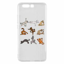 Чохол для Huawei P10 Plus Yoga cats - FatLine