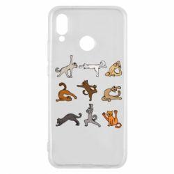 Чохол для Huawei P20 Lite Yoga cats - FatLine