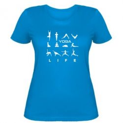 Женская футболка Йога life 2