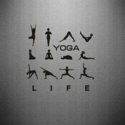 Наклейка Йога life 2