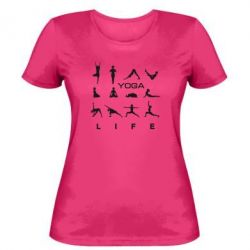 Женская футболка Йога life