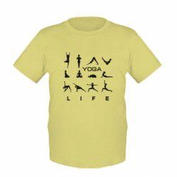 Детская футболка Йога life