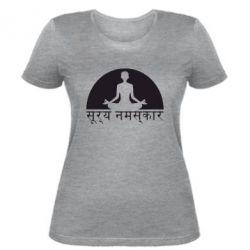 Женская футболка Йога - FatLine
