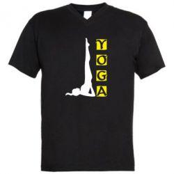 Мужская футболка  с V-образным вырезом Yoga - FatLine