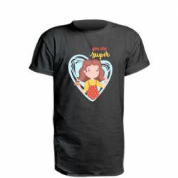 Подовжена футболка You are super girl