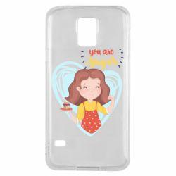 Чохол для Samsung S5 You are super girl