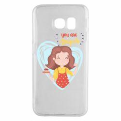 Чохол для Samsung S6 EDGE You are super girl