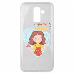 Чохол для Samsung J8 2018 You are super girl