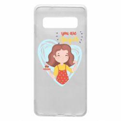 Чехол для Samsung S10 You are super girl