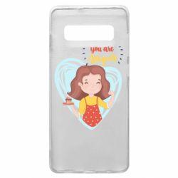 Чехол для Samsung S10+ You are super girl