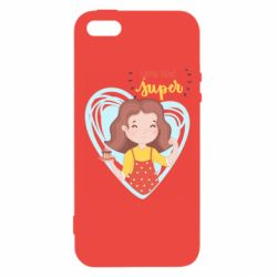 Чехол для iPhone5/5S/SE You are super girl