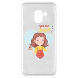 Чохол для Samsung A8 2018 You are super girl