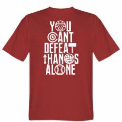 Мужская футболка You can't defeat thanos alone