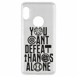 Чехол для Xiaomi Redmi Note 5 You can't defeat thanos alone